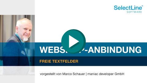 Schnittstelle Shopware - Freie Textfelder